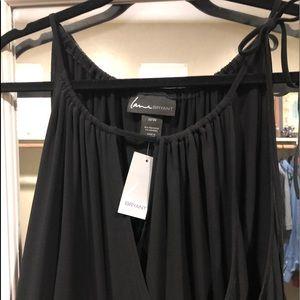 Black Sleey Long Pant Romper